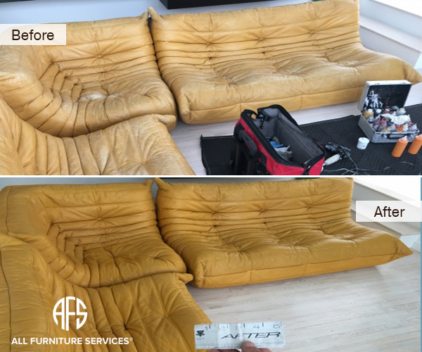 Aniline Leather dyeing Wear and Tear Restoration Improvement color enhancing