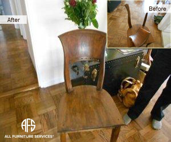 Antique Chair Frame Wood Crack Repair Restoration