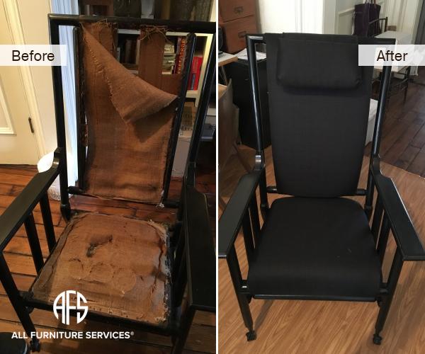 Antique Chair Restoration Spring Padding Upholstery Loose Frame Work