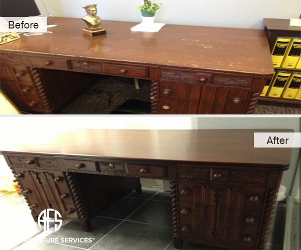 Antique Desk restoration - refinishing refurbishing furniture