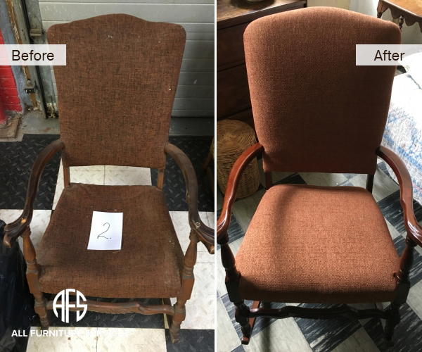 Antique Furniture Chair Complete Restoration Padding Finishing Reupholstery