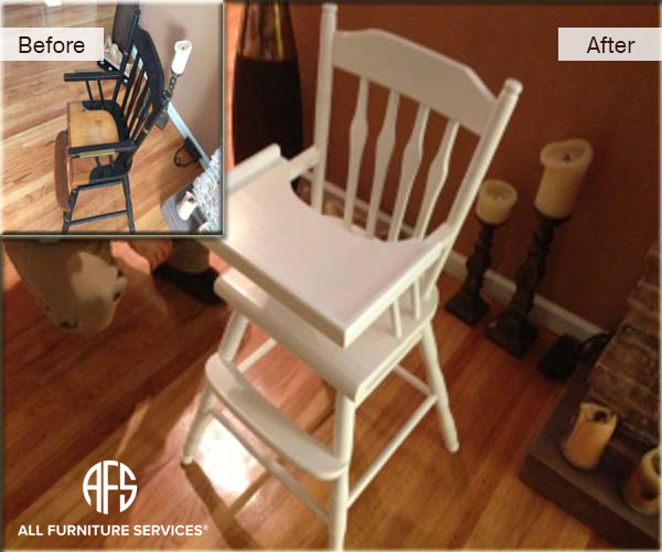 Antique High Chair Color Change Painting