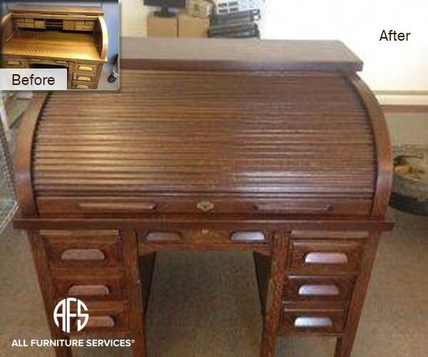 Antique Roll Top Desk Restoration Refinishing