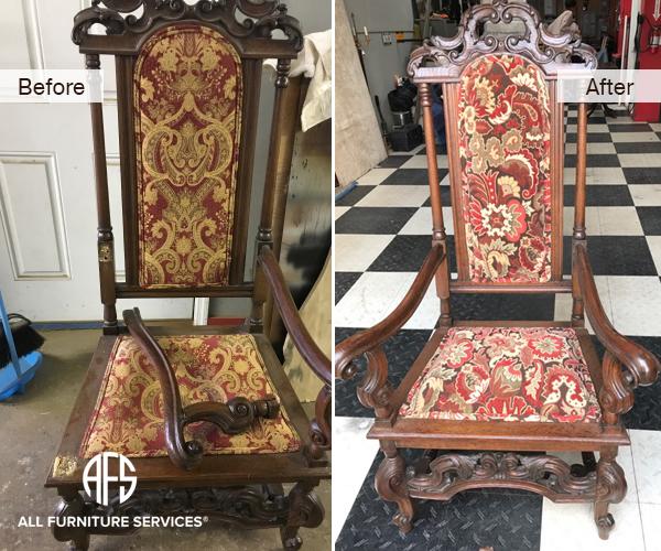 Antique chair hand frame leg repair restoration upholstery