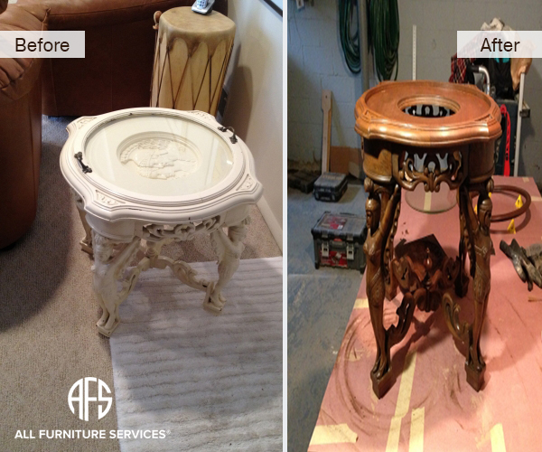 Antique stand color refinishing