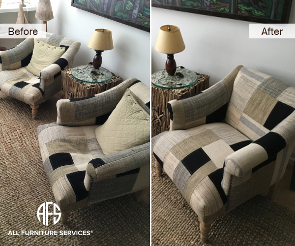 Arm chair repair springs webbing strapd and replacing foam padding cushions