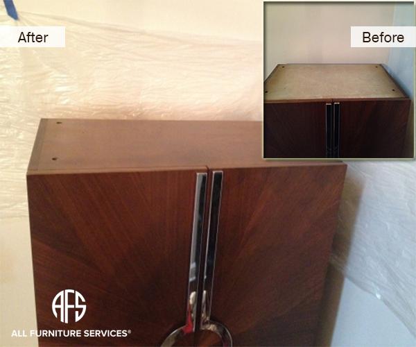 Armoire top Restore finish veneer lacquer