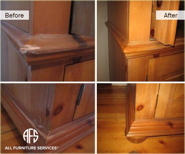 Aroire wood corner gouge fill repair