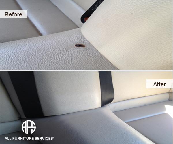 Auto Car Seat Burn Hole Repair Lather