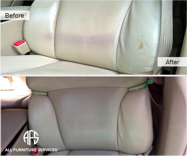 Auto car seat tear repair painting