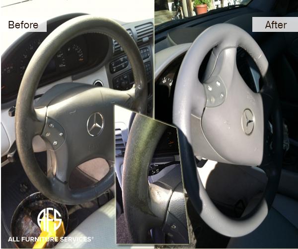 Auto upholstery steering wheel color dye