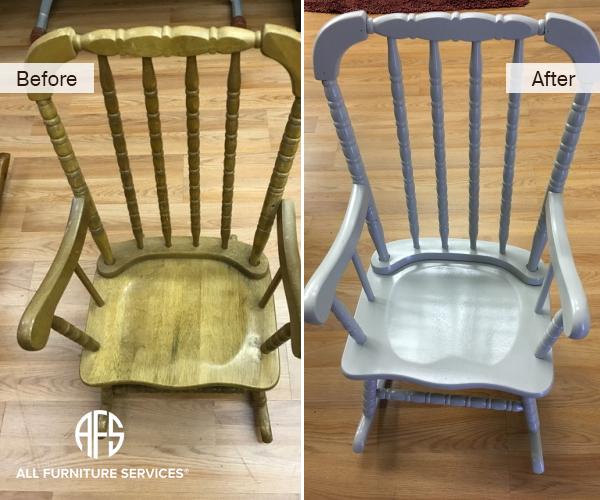 Baby Rocking Chair Refinishing Painting Repair