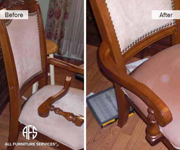 Broken Chair Arm Repair