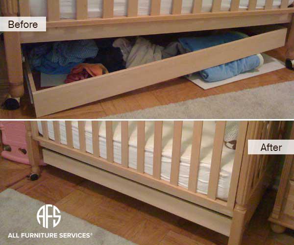 Broken Crib Drawer Repair