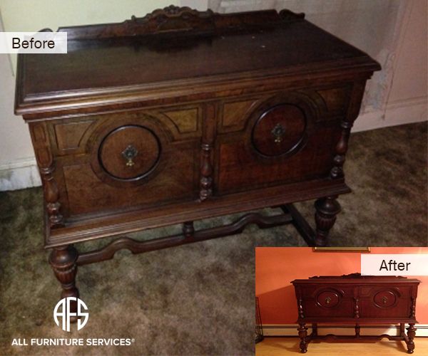 Bureau Dresser credenza restoration refinishing