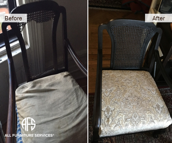 Cane change upholstery seat cushion and back canning chair