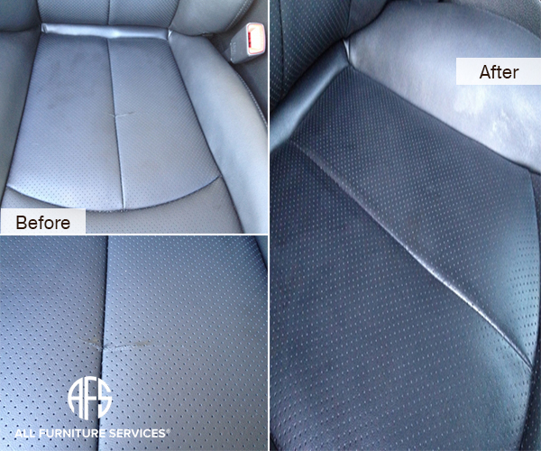 Car Auto perforated leatehr seat dash tear repair dye color
