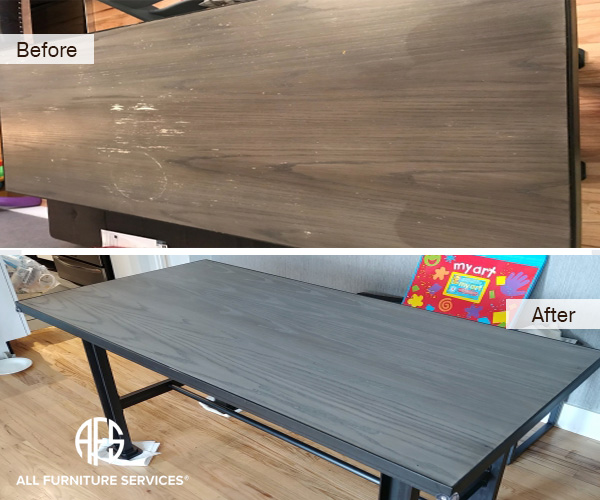 Desk Table Furniture Colro change painting refinishing