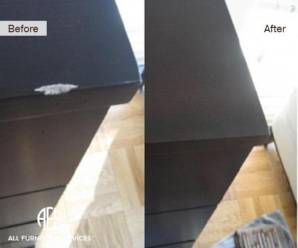 Gouged Wood on Dresser repair