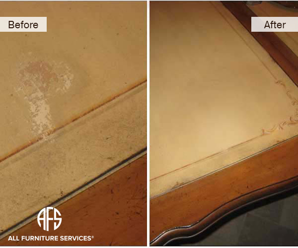 Hand Painted Dining Table Damage