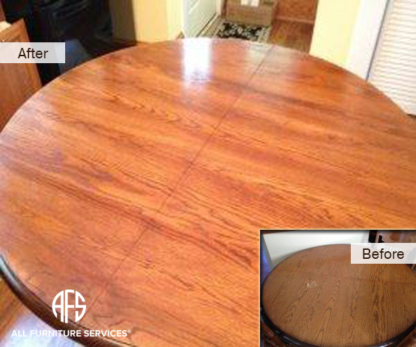 Kitchen Round Dining table refinishing
