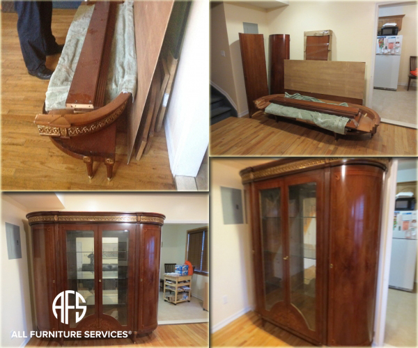 Large armoire fit disassembly assembly