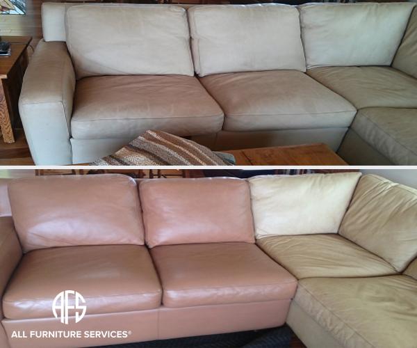 Leatehr sofa colro change dyeing