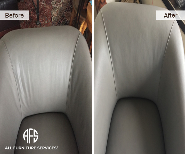Leather-Fabric-upholstery-furniture-chair-wrinkle-removal-heat-shrink-reinstall