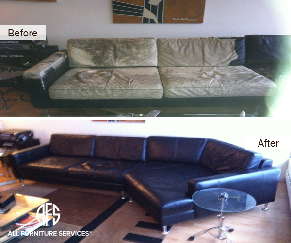 Leather Sectional Color Restoration Change Dye Full