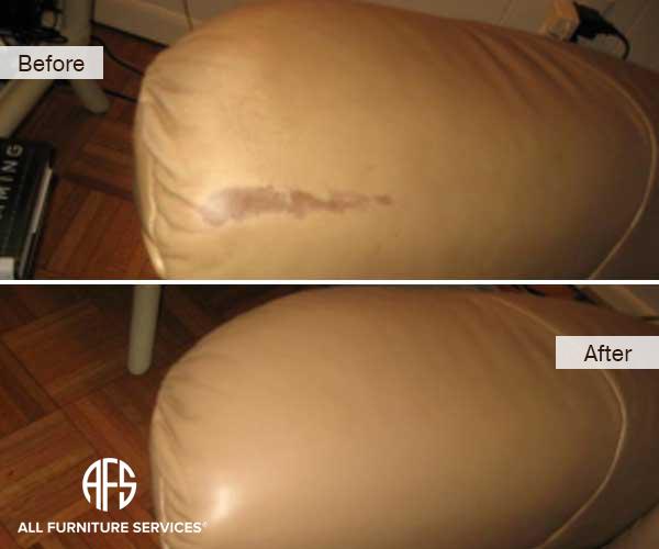 Leather Sofa Arm Redye