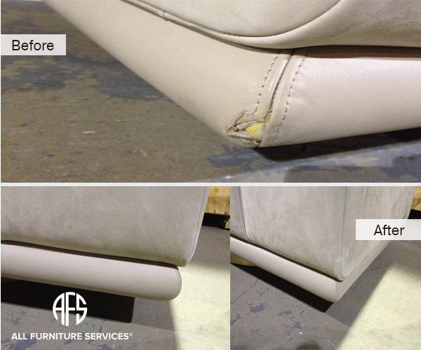 Leather moving damage Repair stitching seam dye