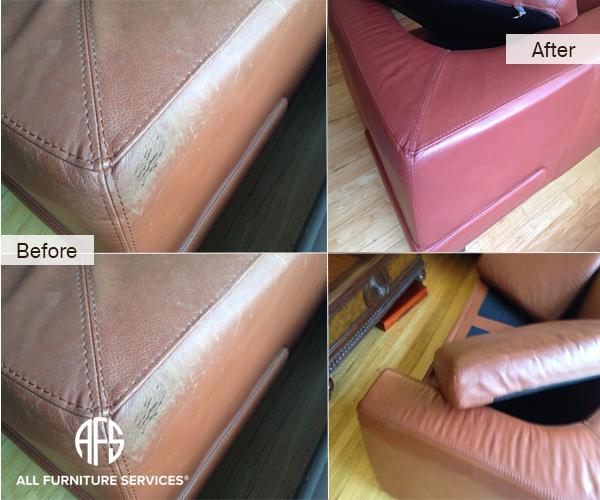 Leather paint repair color match dye paint furniture
