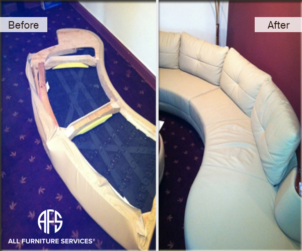 Leather sofa couch disassembly assembly