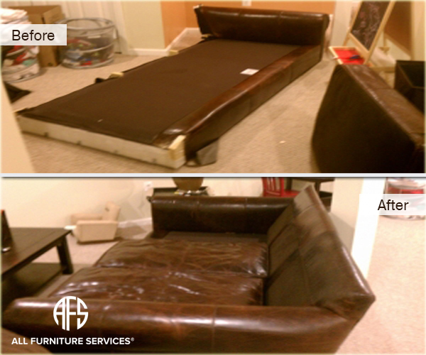 Leather sofa custom disassembly