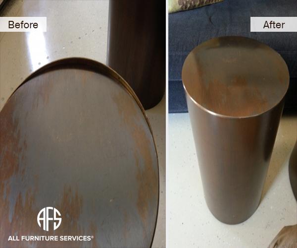 Metal trunk furniture repair weld seal