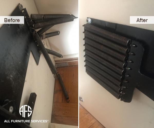 Murphy wall Bed Sleeper Recliner mechanism spring repair replacement installation