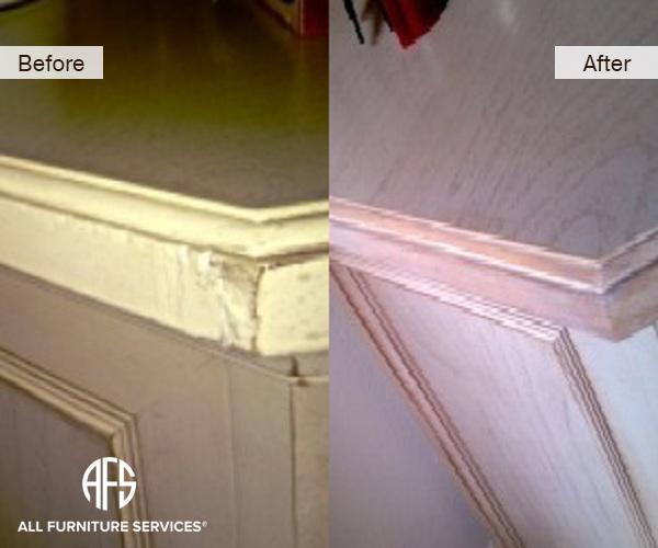 Nightstand Chipped corner repair