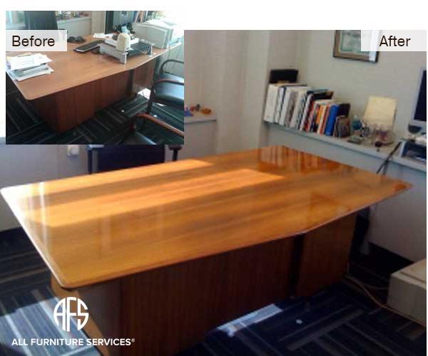 Office Desk Refinishing