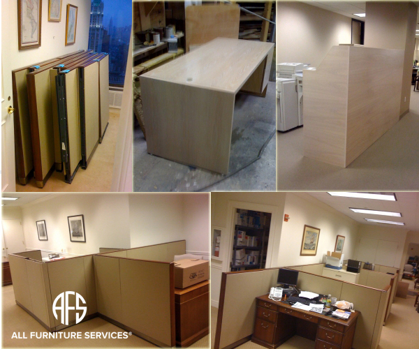 Office partition cubicle disassembly commercial