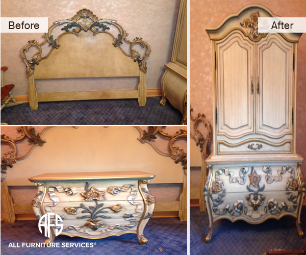 Paint Detail color enhancing restoring bedroom