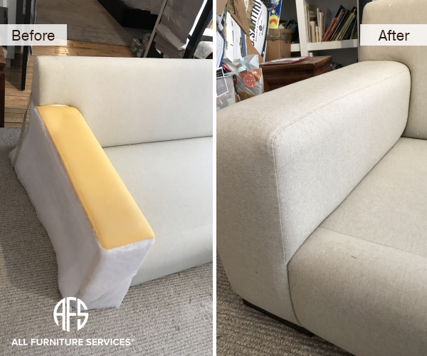 Sofa Loveseat Couch Arm Seat Reupholstery Fabric part replacement repair furniture