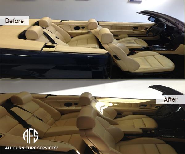 auto BMW full interior Leather Restoration Dyeing