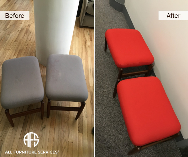 bench stool chair upholstery change re-upholstery