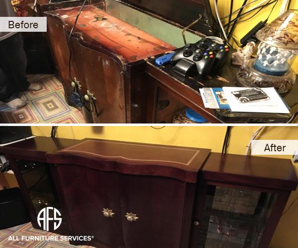 cabinet-dresser-furniture-desk-table-restoration-furniture-refinishing-wood-leather-top-hardware-hinges-stain-color-change