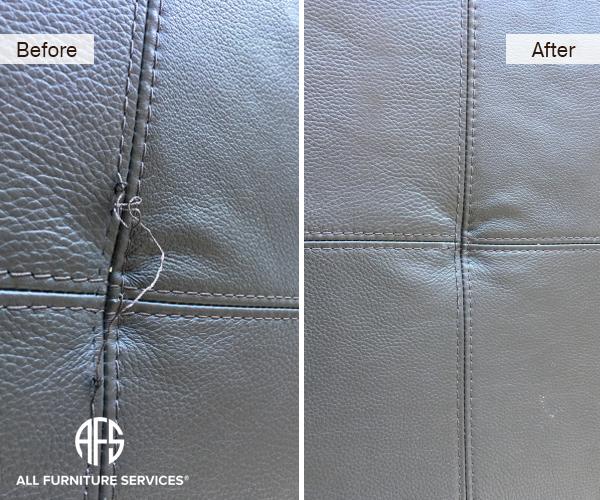 furniture cushion upholstery seam stitching decorative thread repair restore fix