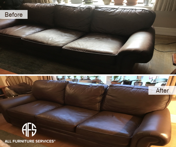furniture living room sofa cushions leather vinyl restoration dyeing cleaning conditioning padding