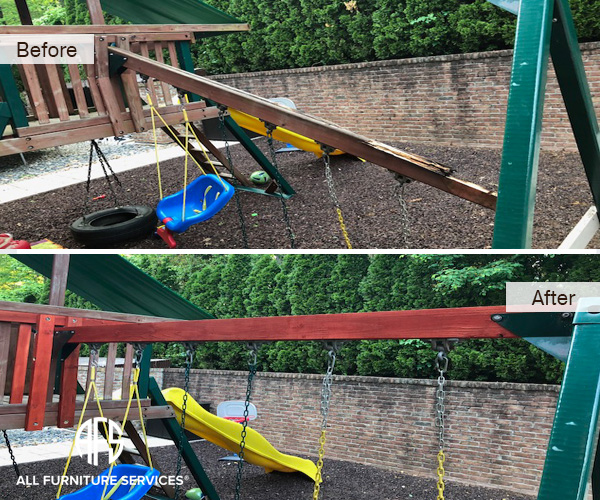 outdoor-gym-furniture-teak-break-replace-finish-treat-stain-reinfroce-wood