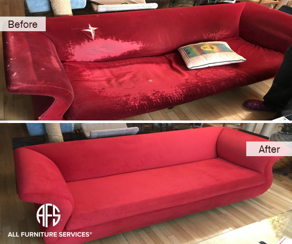 sofa couch furniture restoration upholstery fabric material replacement design reupholstery padding