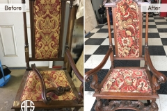 Antique chair hand frame leg repair restoration upholstery