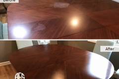 Dining-table-top-heat-mark-removal-water-mark-removal-finish-restore-refinishing-polishing-furniture-wooden-scratch